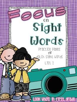 FOCUS on Sight Words