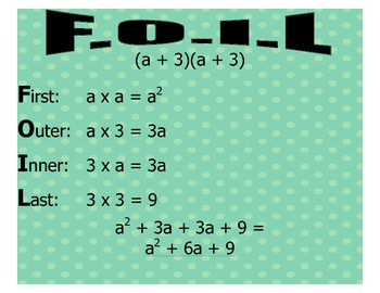 F.O.I.L. - Multiplying Two Binomials