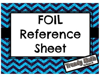 FOIL Reference Sheet