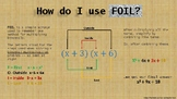 FOIL how-to poster, notebook page or handout