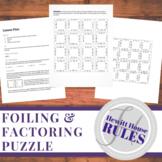 FOILing & Factoring Puzzle