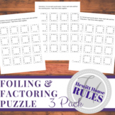 FOILing & Factoring Puzzle (Pack of 3)
