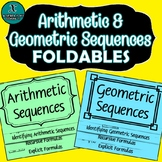 FOLDABLES - Algebra - Arithmetic & Geometric Sequences
