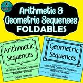 FOLDABLES - Algebra - Arithmetic & Geometric Sequences