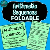 FOLDABLE - Algebra - Arithmetic Sequences