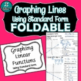 FOLDABLE - Algebra - Graphing Lines Using Standard Form