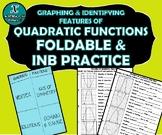FOLDABLE & INB PRACTICE - Algebra - Quadratic Functions