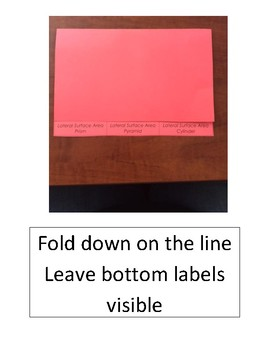 FOLDABLE - Lateral Surface Area