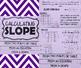 INB FOLDABLE & TASK CARDS - Algebra - Calculating Slope