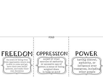 Themes in United States History through Conceptual Lens FOLDABLES