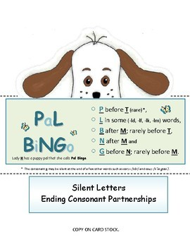 FOLDABLES:  Silent Consonants - samples