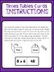 FOLDING/SELF CHECKING MULTIPLICATION CARDS