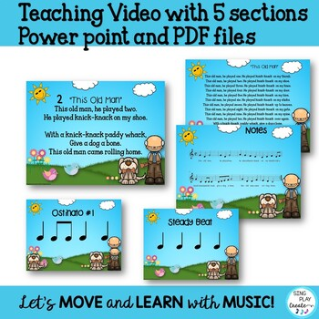 """Folk Song and Lessons: """"This Old Man"""" VIDEO, Sheet Music, Mp3 Tracks"""