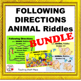 FOLLOW DIRECTIONS BUNDLE $$$ Gr 3-4-5  Animals & Snakes Vocabulary Language CORE