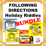 FOLLOW DIRECTIONS Holiday Themes ... BUNDLE Gr 3,4,5 ... C