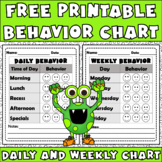 FOLLOWER FREEBIE Behavior Chart: Editable Sheet To Improve Behavior