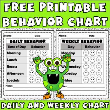 FOLLOWER FREEBIE Behavior Chart: Editable Sheet To Improve Behavior