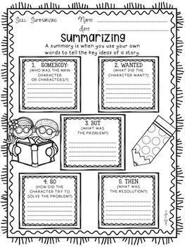 Summarizing Graphic Organizer