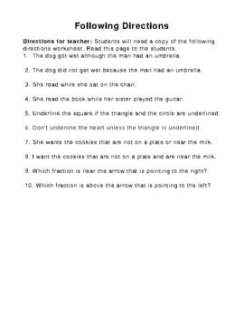 FOLLOWING DIRECTIONS- BUNDLE- VOLUMES 1-5- NO PREP