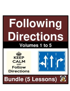 FOLLOWING DIRECTIONS- BUNDLE- VOLUMES 1-5- NO PREP