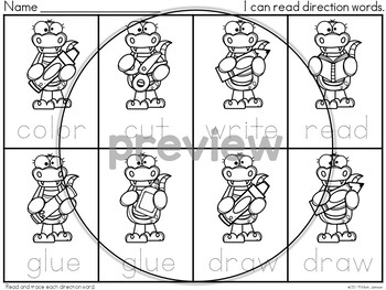 FOLLOWING DIRECTIONS: GATOR-THEMED DIRECTION WORD POSTERS {FREE}