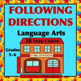 FOLLOWING DIRECTIONS • LANGUAGE ARTS • GRADES 5–6