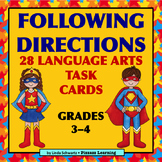 FOLLOWING DIRECTIONS • LANGUAGE ARTS • Grades 3–4