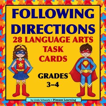 FOLLOWING DIRECTIONS • LANGUAGE ARTS • Grades 3–4