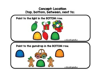 FOLLOWING DIRECTIONS | CHRISTMAS SPEECH AND LANGUAGE | SPEECH THERAPY CHRISTMAS