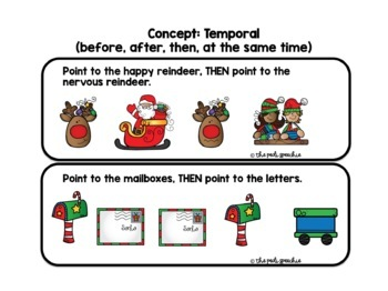 FOLLOWING DIRECTIONS   CHRISTMAS SPEECH AND LANGUAGE   SPEECH THERAPY CHRISTMAS