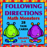 FOLLOWING DIRECTIONS • MATH MONSTERS • Grades 3–4