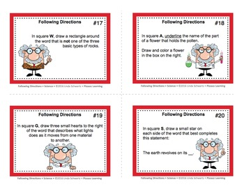 FOLLOWING DIRECTIONS • SCIENCE • GRADES 5–6