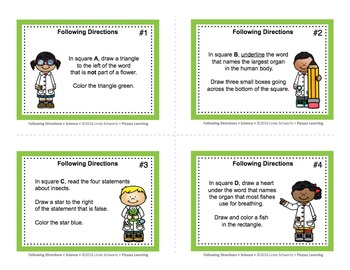 FOLLOWING DIRECTIONS • SCIENCE • Grades 3–4