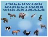 FOLLOWING DIRECTIONS with ANIMALS for Speech Therapy