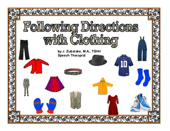 FOLLOWING DIRECTIONS with CLOTHING ITEMS for Speech Therapy