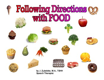FOLLOWING DIRECTIONS with FOOD for Speech Therapy