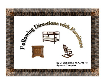 FOLLOWING DIRECTIONS with FURNITURE for Speech Therapy