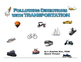 FOLLOWING DIRECTIONS with TRANSPORTATION for Speech Therapy