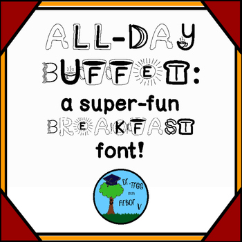"FONT: ""All-Day Buffet"" BREAKFAST Food (personal & commercial use)"