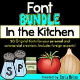 FONT BUNDLE: In The Kitchen {20 Original, True Type fonts}