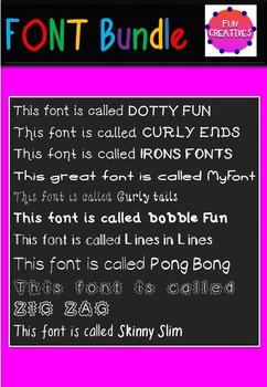 FONT Bundle-10 Original Fonts