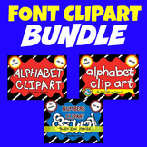 ALPHABET LETTERS CLIPART AND NUMBERS CLIPART (BLACK AND WH