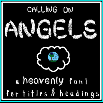 """FONT: """"Calling on Angels"""" feathers: bird/nature unit (personal & commercial use)"""
