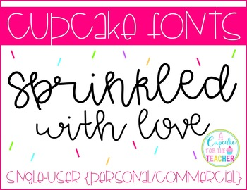 FONT: Cupcake Sprinkled With Love (Personal/Commercial)