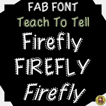 FONT FOR COMMERCIAL USE: DECORATIVE FONT: FIREFLY