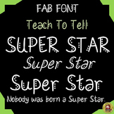 FONT FOR COMMERCIAL USE: DECORATIVE FONT: MEMORIAL DAY: SUPER STAR:
