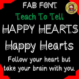 FONT FOR COMMERCIAL USE: DECORATIVE FONT: VALENTINES: HAPP
