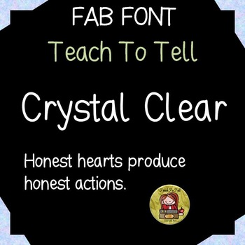 FONT FOR COMMERCIAL USE  - HANDWRITING FONT-TEACHTOTELL CRYSTAL CLEAR