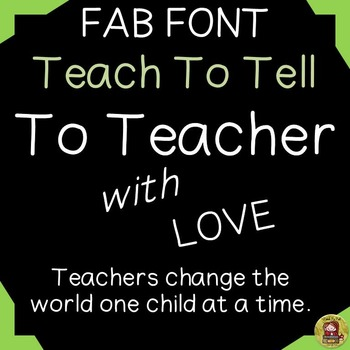 FONT FOR COMMERCIAL USE  - HANDWRITING - TO TEACHER WITH LOVE