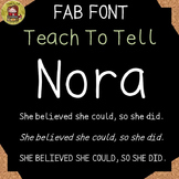 FONT FOR COMMERCIAL USE  - HANDWRITING FONT - TeachToTell NORA